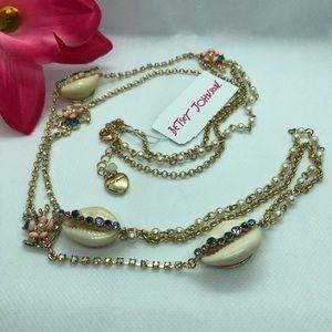 🆕💋Betsey Johnson Festival Mermaid Shell Necklace